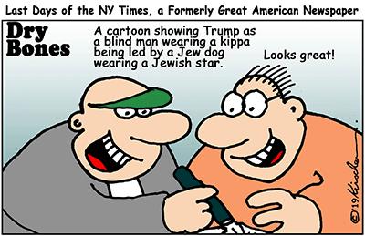 antisemitism, media, NY Times, cartoons,