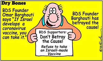 Dry Bones cartoon,pandemic, Life in the Time of Corona,Coronavirus,BDS,vaccine, Israel,