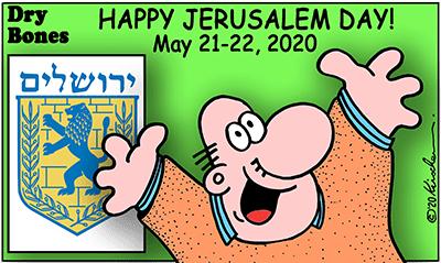Dry Bones cartoon,Jerusalem Day, Yom Yerushalayim,, COVID19, Israel, holiday,