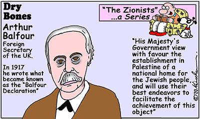 Dry Bones cartoon,Balfour,Zionists, series,