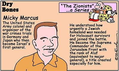 Dry Bones cartoon,Israel,1948,Jews, Zionists, series, Micky Marcus,