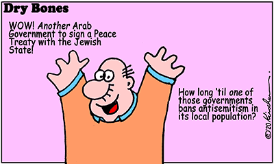 Dry Bones cartoon,Trump,UAE,Israel,Peace,antisemitism,