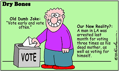 Drybones cartoon,America,Voter fraud,