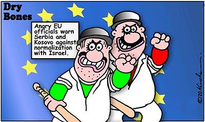 Drybones cartoon,Israel,EU,Serbia, Kosovo,