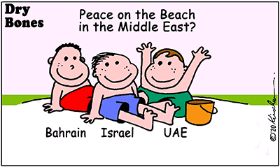 Drybones cartoon,UAE, Israel, Bahrain, Peace,Middle East,