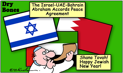 Drybones cartoon,UAE, Abraham Peace Accords,Israel, Bahrain, Peace,Middle East,