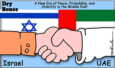 Dry bones cartoon,UAE, Abraham Peace Accords,Israel, Trump, Peace,Middle East,