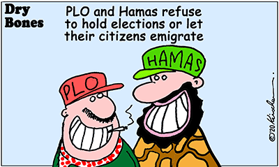 Dry Bones cartoon, Hamas, PLO, Palestinian Arabs,Gaza, Judea, Samaria, Peace,Middle East,