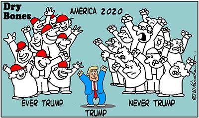 Dry Bones cartoon, America, Never Trump, MAGA,Trump,