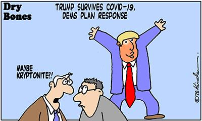 Dry Bones cartoon, America,Trump,COVID-19, Elections,Politics,