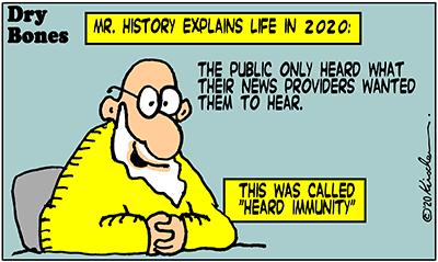 Dry Bones cartoon, Media bias, Fake News, News, Mr. History,