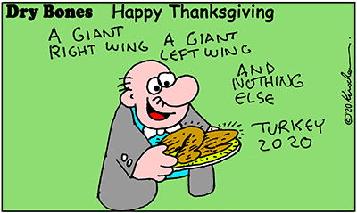 Dry Bones cartoon,Holiday,Thanksgiving, 2020,