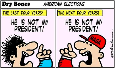 Dry Bones cartoon, America, Biden,Trump,America, fraud,Presidency, Elections,