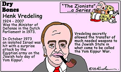 Dry Bones cartoon, Zionist Series, Vredeling, antisemitism, Jews, Netherlands, Yom Kippur, Yom Kippur War,