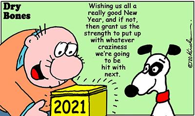 Dry Bones cartoon,Holiday,New Year,Shuldig, Doobie, 2021,
