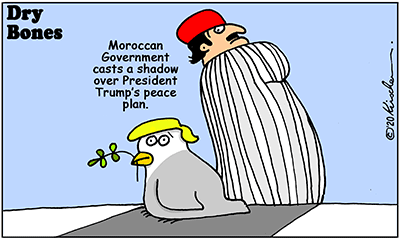 Dry Bones cartoon,Trump,Peace, Morocco, Israel, Abraham Peace Accords,