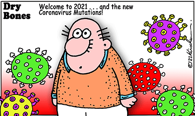 Dry Bones cartoon, Coronavirus, Covid-19, Shuldig,mutations, 2021,