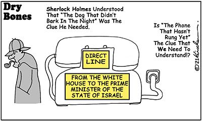 Dry Bones cartoon, America, Biden,Presidency,Netanyahu, Israel, phone call,