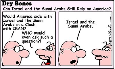 Dry Bones cartoon, UAE, Abraham Accords,Israel, Peace, Middle East,Iran, America, Biden, Sunni Arabs,