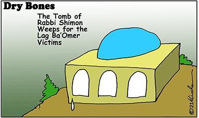 Dry Bones cartoon, Lag Ba'Omer, Rabbi Shimon, Mount Meron,