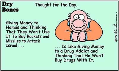 Dry Bones cartoon,donate,Missile Attack, Shuldig, Gaza, funding,