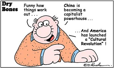 Dry Bones cartoon,donate, cancel culture, cultural revolution, China, America,