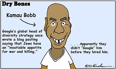 Dry Bones cartoon,donate,Google, Bobb, antisemitism,