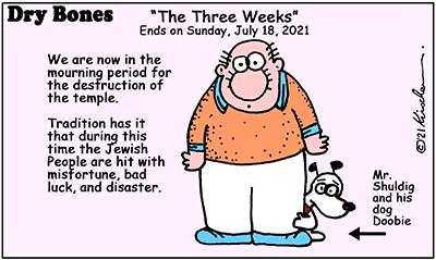 Dry Bones cartoon,donate,the three weeks, Jewish culture, Judaism,