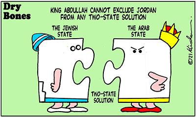 Dry Bones cartoon,donate,Peace, Jordan, Two-State Solution, King Abdullah,Israel,