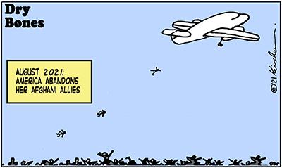 Dry Bones cartoon,donate, America, Biden. Afghanistan,