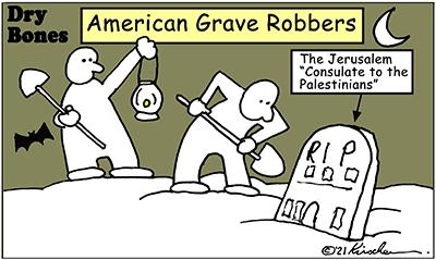 Dry Bones cartoon,donate, Jerusalem,America, Palestinian Arabs, Israel, Biden,