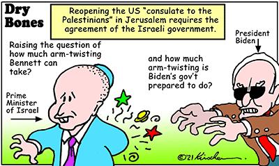 Dry Bones cartoon,donate, Jerusalem,America, Palestinian Arabs, Israel, Biden,Jerusalem Consulate,